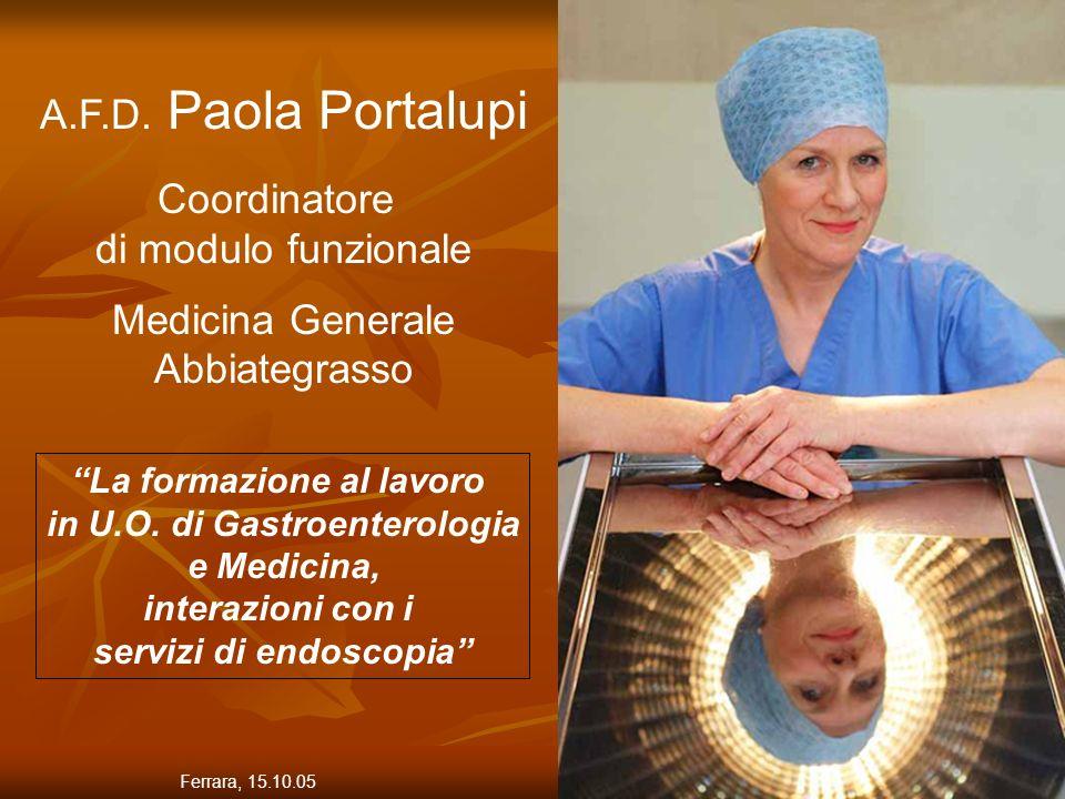 A.F.D. Paola Portalupi Coordinatore di modulo funzionale
