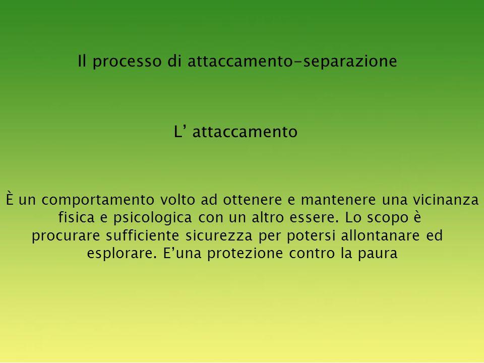 Il processo di attaccamento-separazione