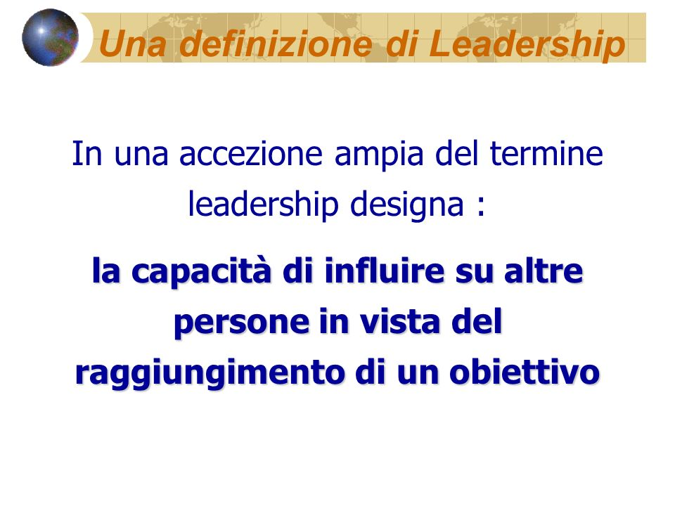 Una definizione di Leadership