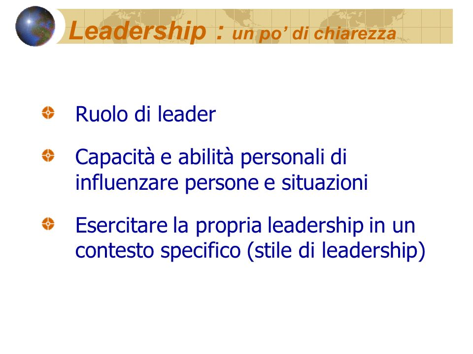 Leadership : un po' di chiarezza