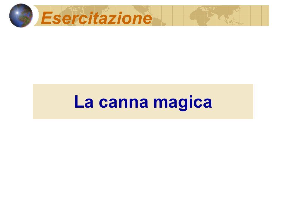 Esercitazione La canna magica