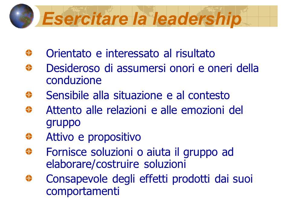 Esercitare la leadership