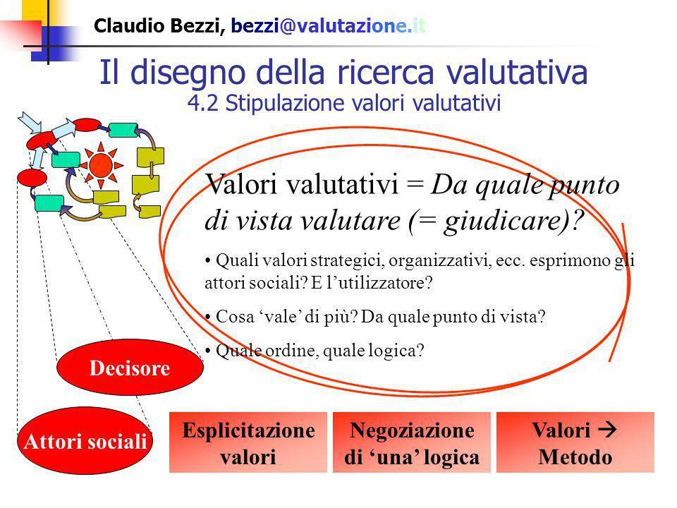 Esplicitazione valori Negoziazione di 'una' logica