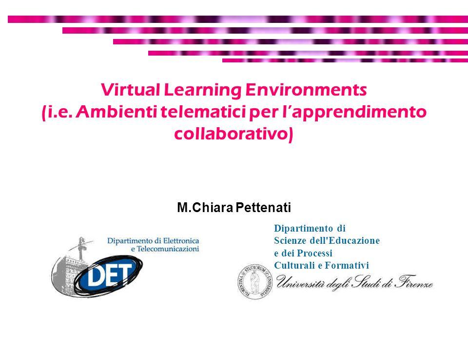 Virtual Learning Environments (i. e