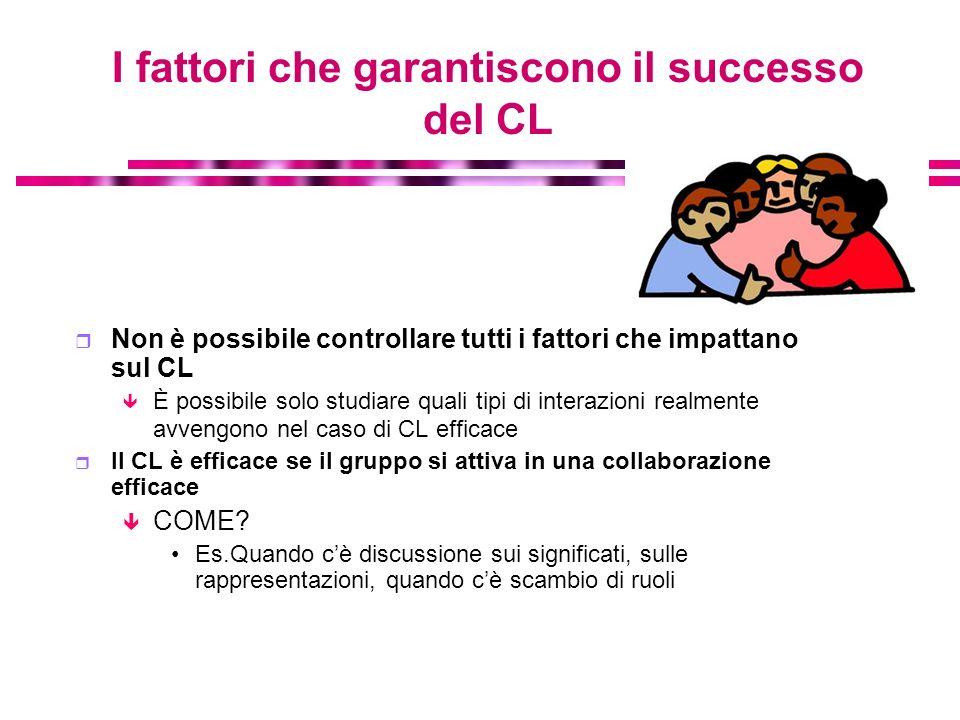 I fattori che garantiscono il successo del CL