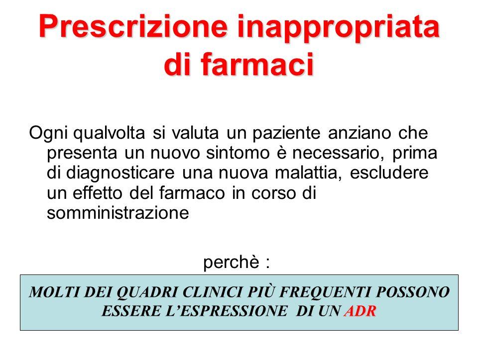 Prescrizione inappropriata di farmaci