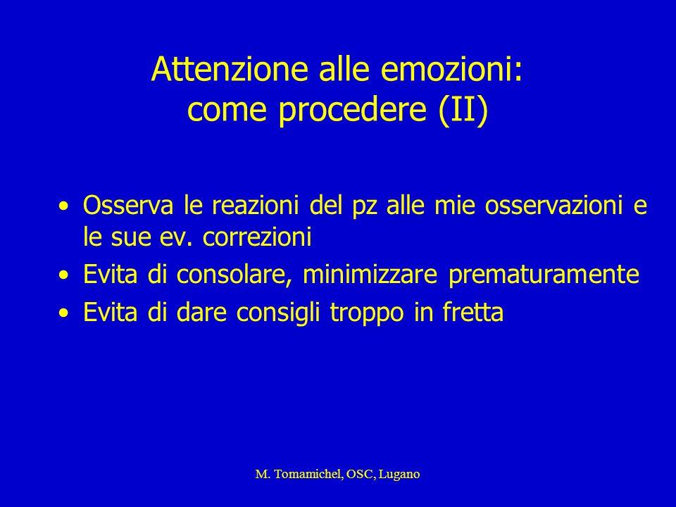 Attenzione alle emozioni: come procedere (II)