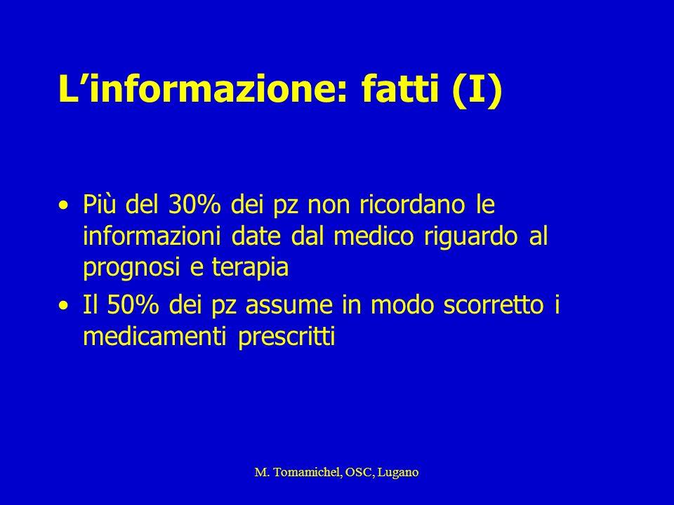 L'informazione: fatti (I)
