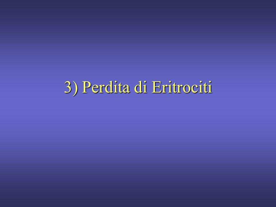 3) Perdita di Eritrociti