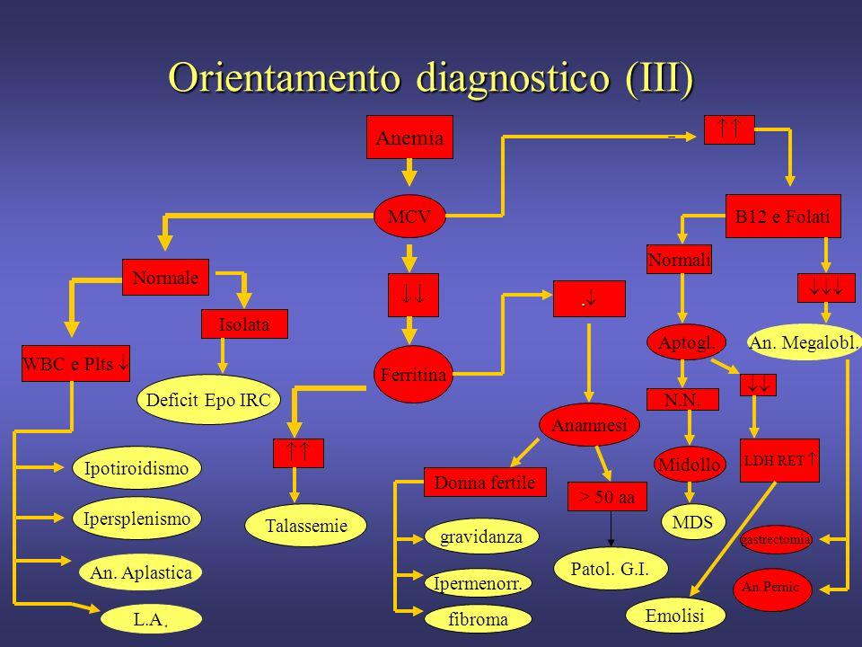 Orientamento diagnostico (III)