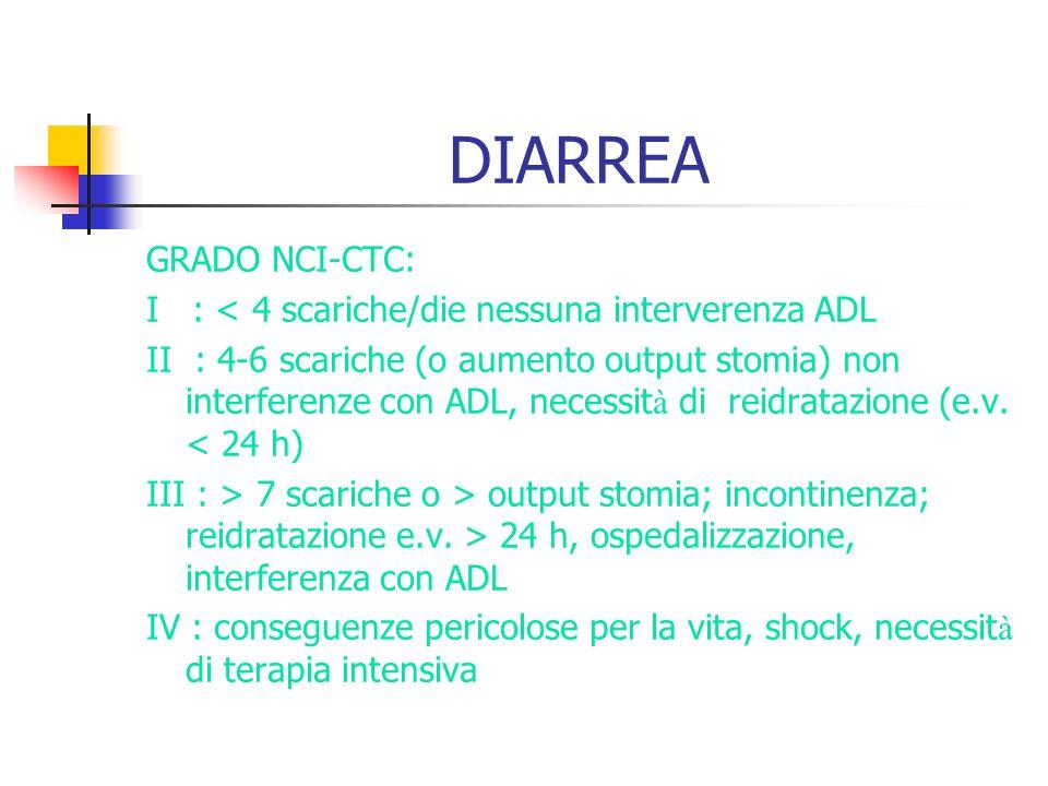 DIARREA GRADO NCI-CTC: