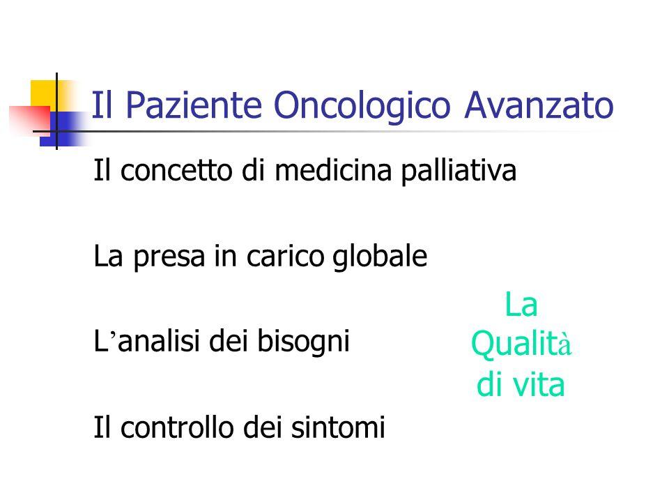 Il Paziente Oncologico Avanzato