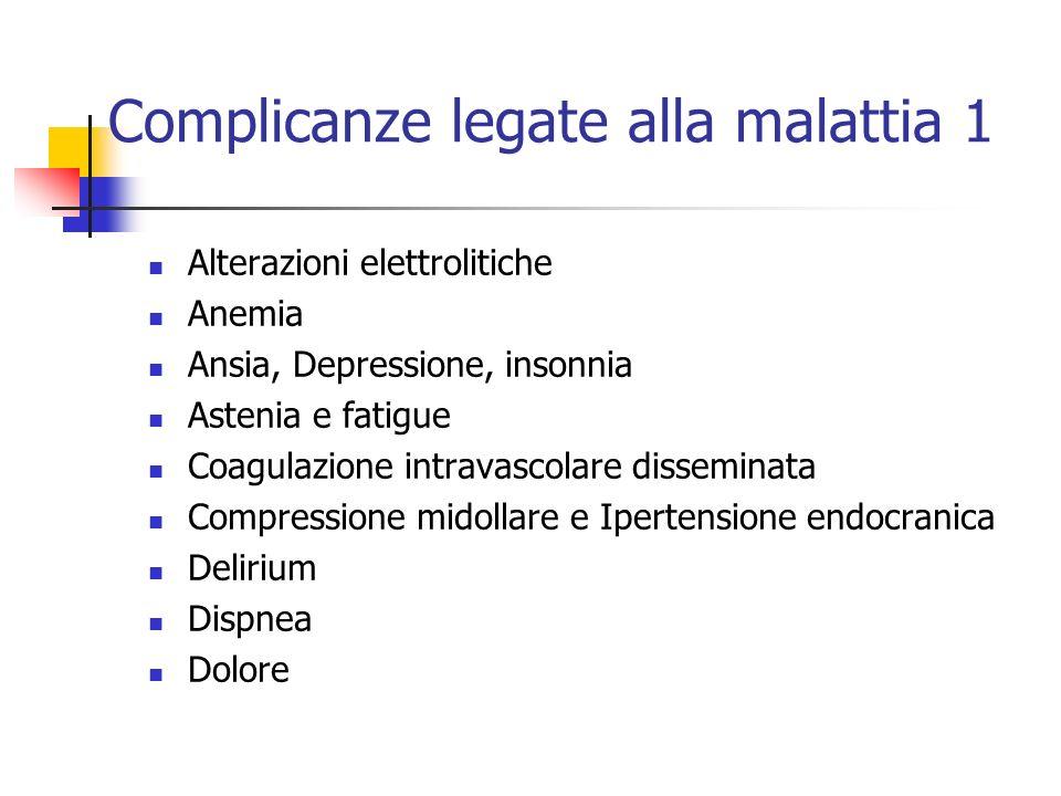 Complicanze legate alla malattia 1