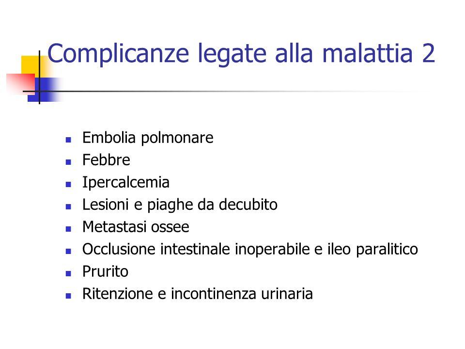 Complicanze legate alla malattia 2