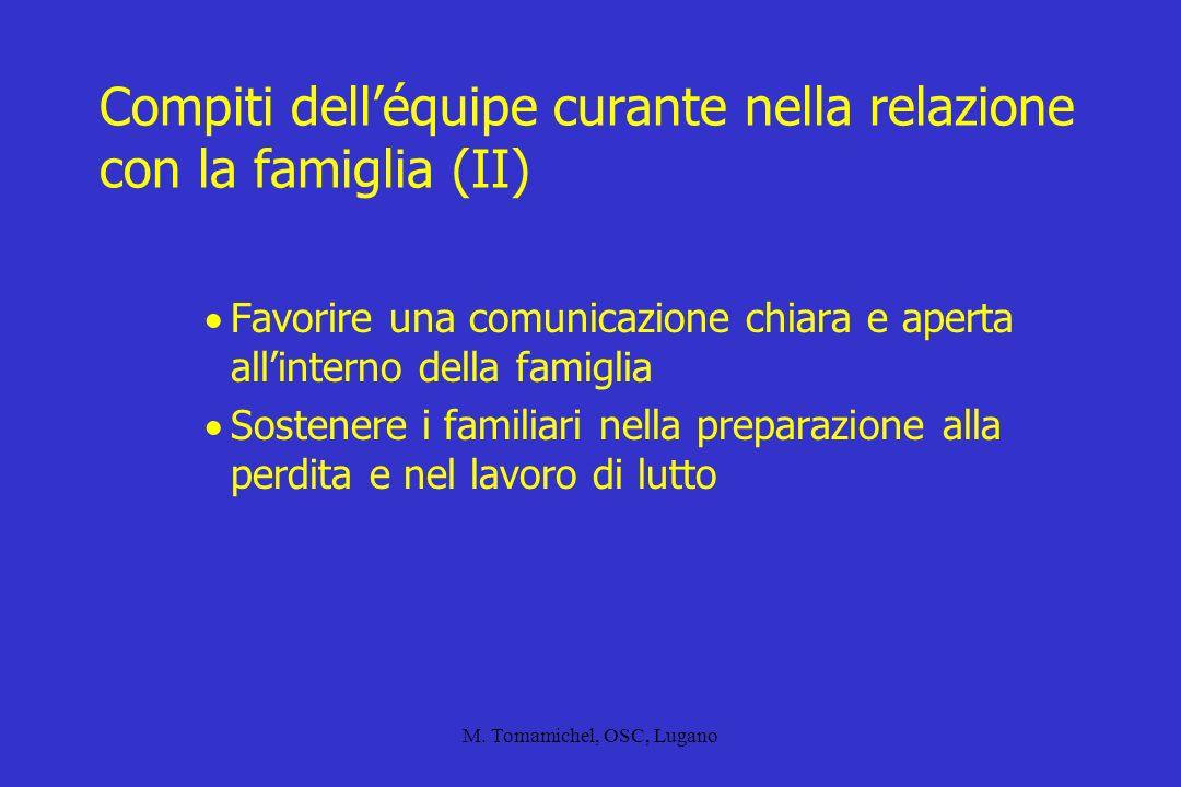 Compiti dell'équipe curante nella relazione con la famiglia (II)
