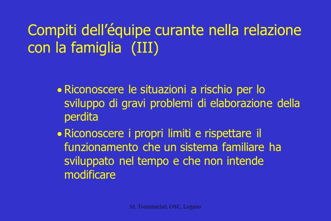 Compiti dell'équipe curante nella relazione con la famiglia (III)