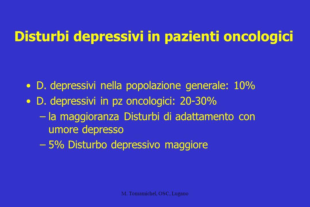 Disturbi depressivi in pazienti oncologici