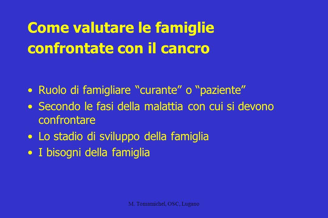 Come valutare le famiglie confrontate con il cancro