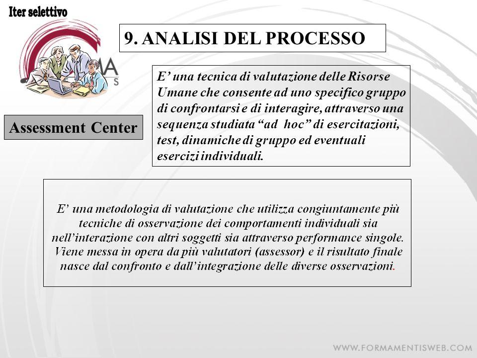 9. ANALISI DEL PROCESSO Assessment Center