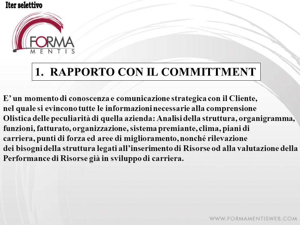 RAPPORTO CON IL COMMITTMENT