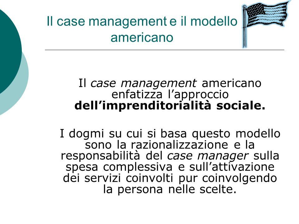 Il case management e il modello americano