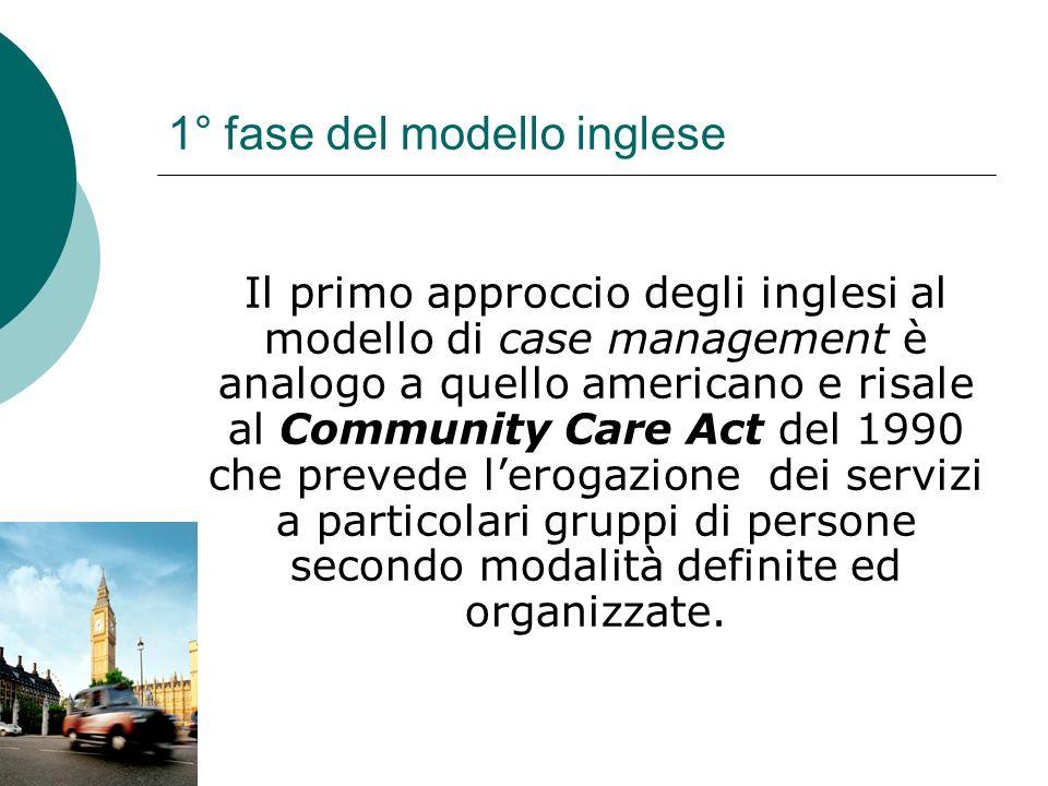 1° fase del modello inglese