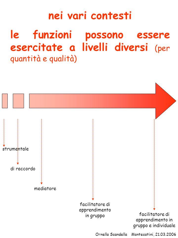 nei vari contesti le funzioni possono essere esercitate a livelli diversi (per quantità e qualità) strumentale.