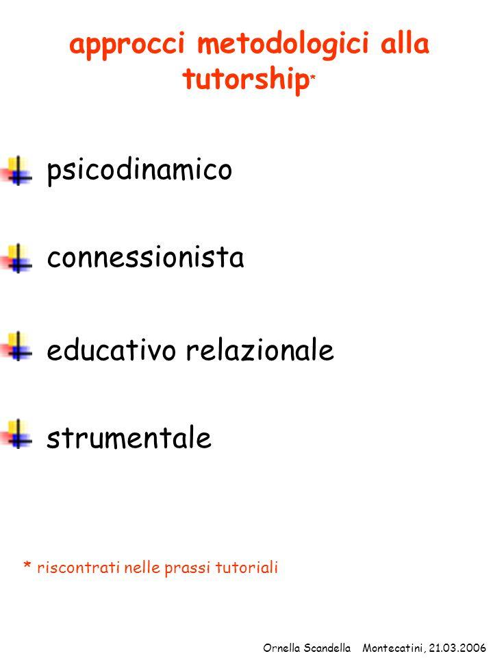 approcci metodologici alla tutorship*