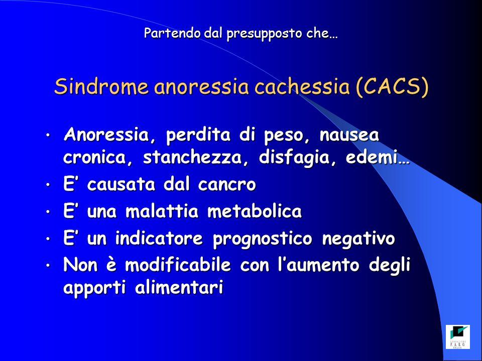 Partendo dal presupposto che… Sindrome anoressia cachessia (CACS)