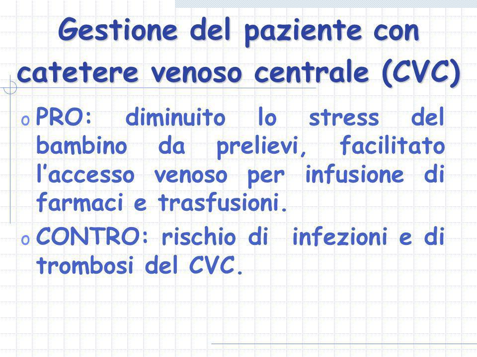 Gestione del paziente con catetere venoso centrale (CVC)