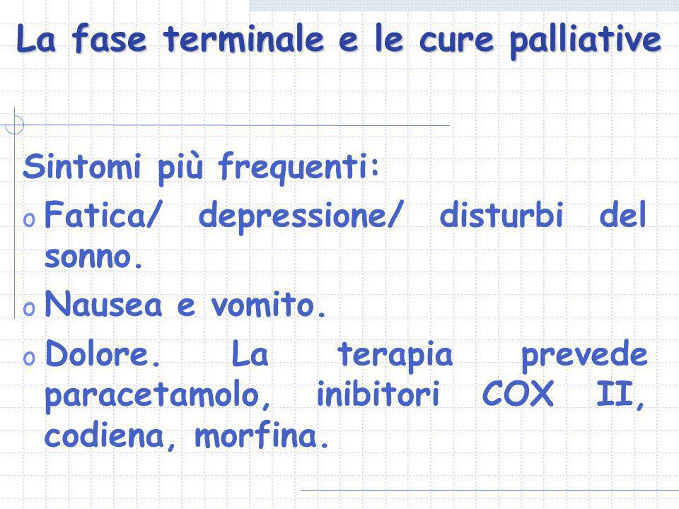 La fase terminale e le cure palliative