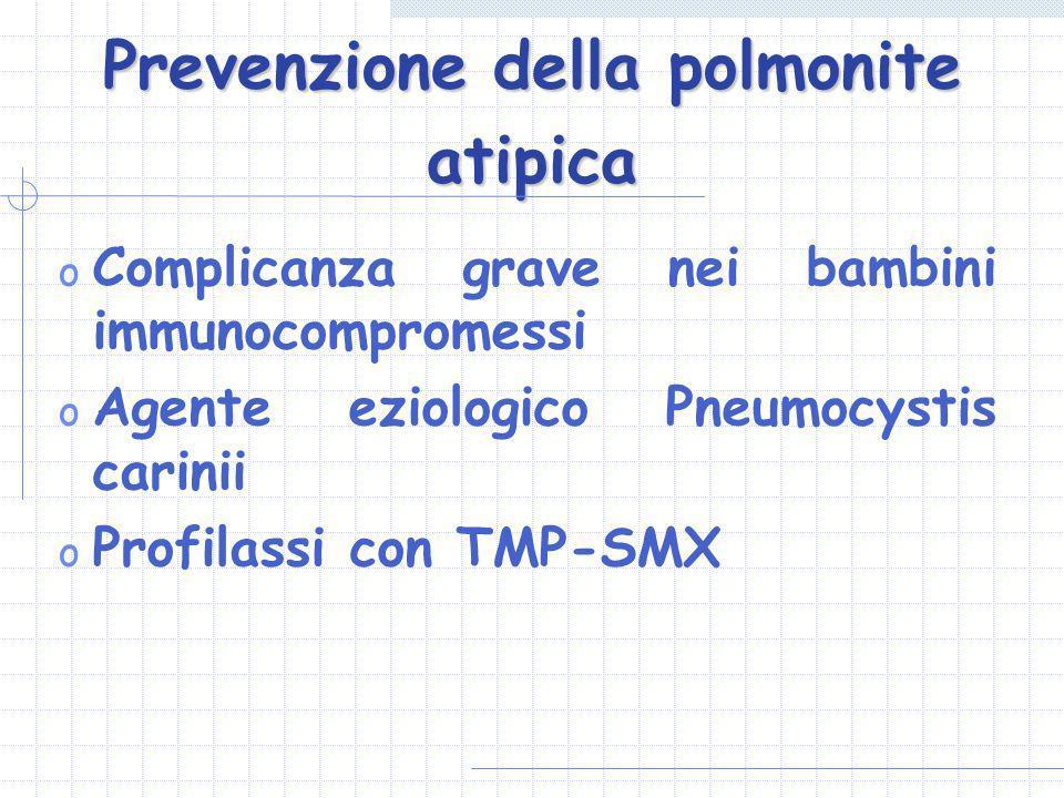 Prevenzione della polmonite atipica