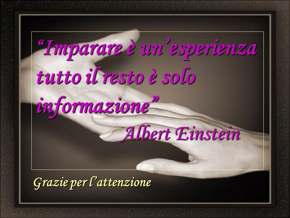 Imparare è un'esperienza tutto il resto è solo informazione Albert Einstein