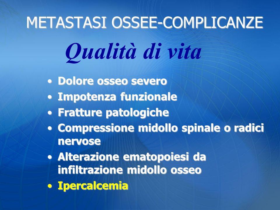 METASTASI OSSEE-COMPLICANZE