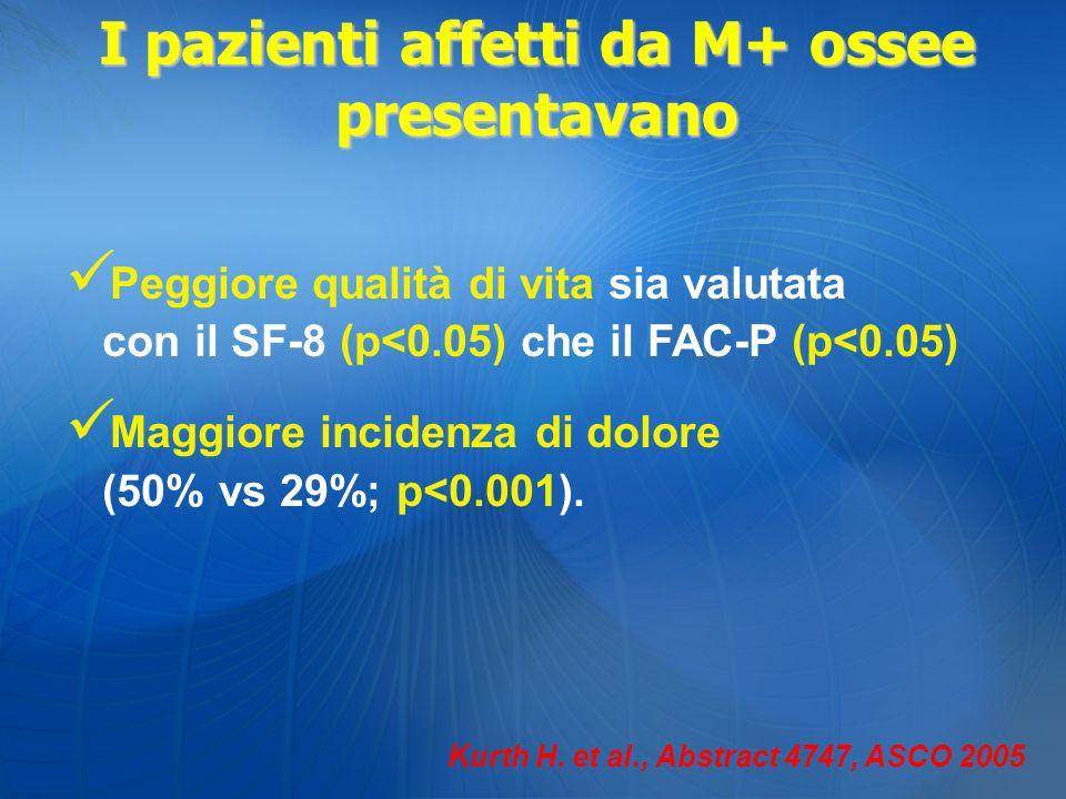 I pazienti affetti da M+ ossee presentavano
