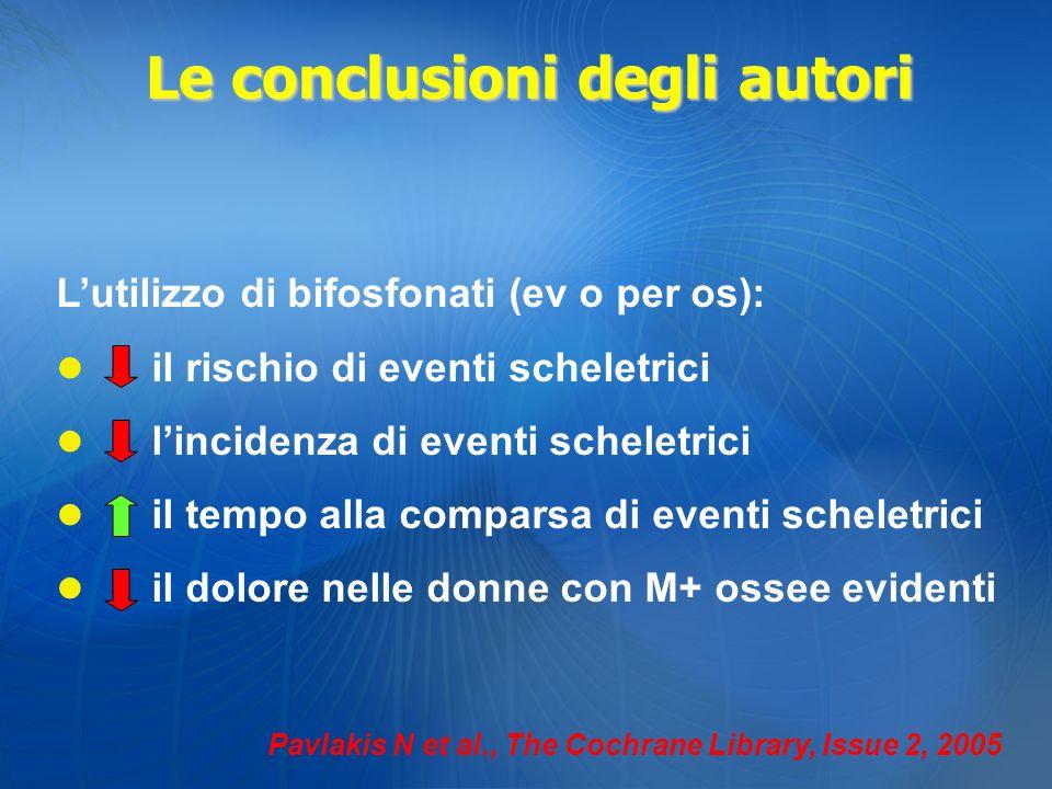 Le conclusioni degli autori