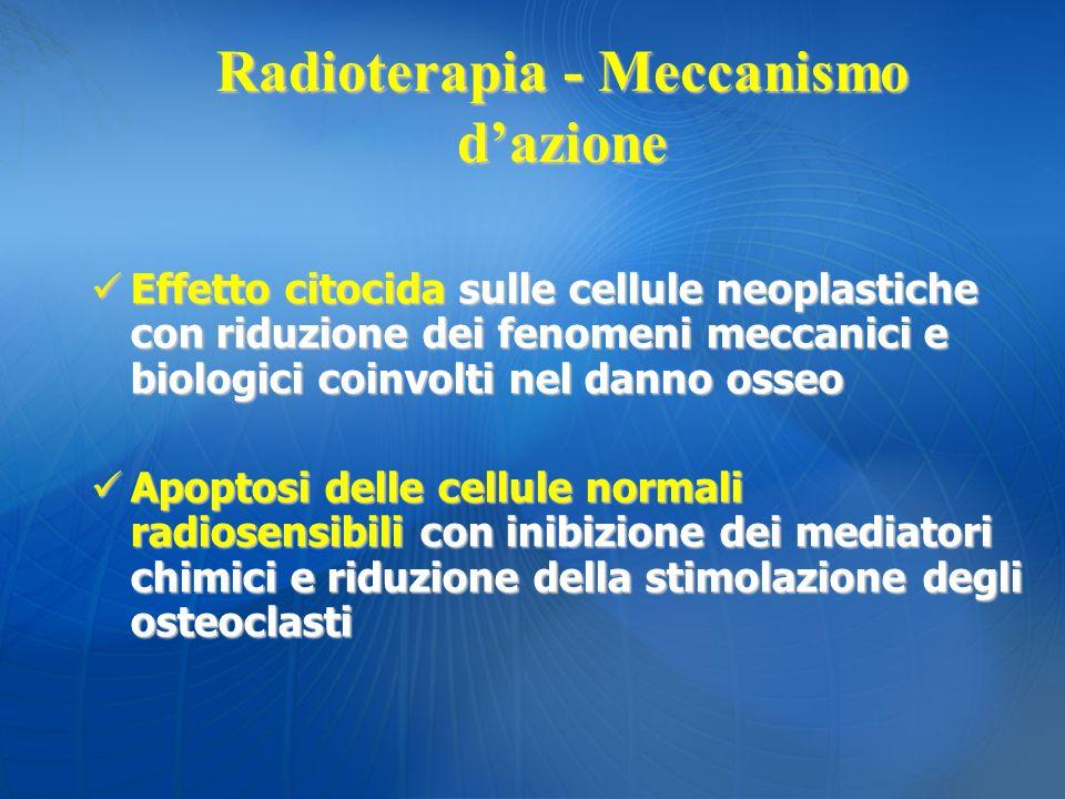 Radioterapia - Meccanismo d'azione