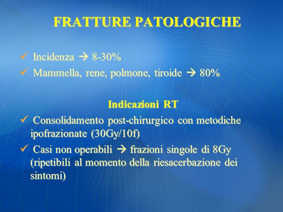 FRATTURE PATOLOGICHE Incidenza  8-30%