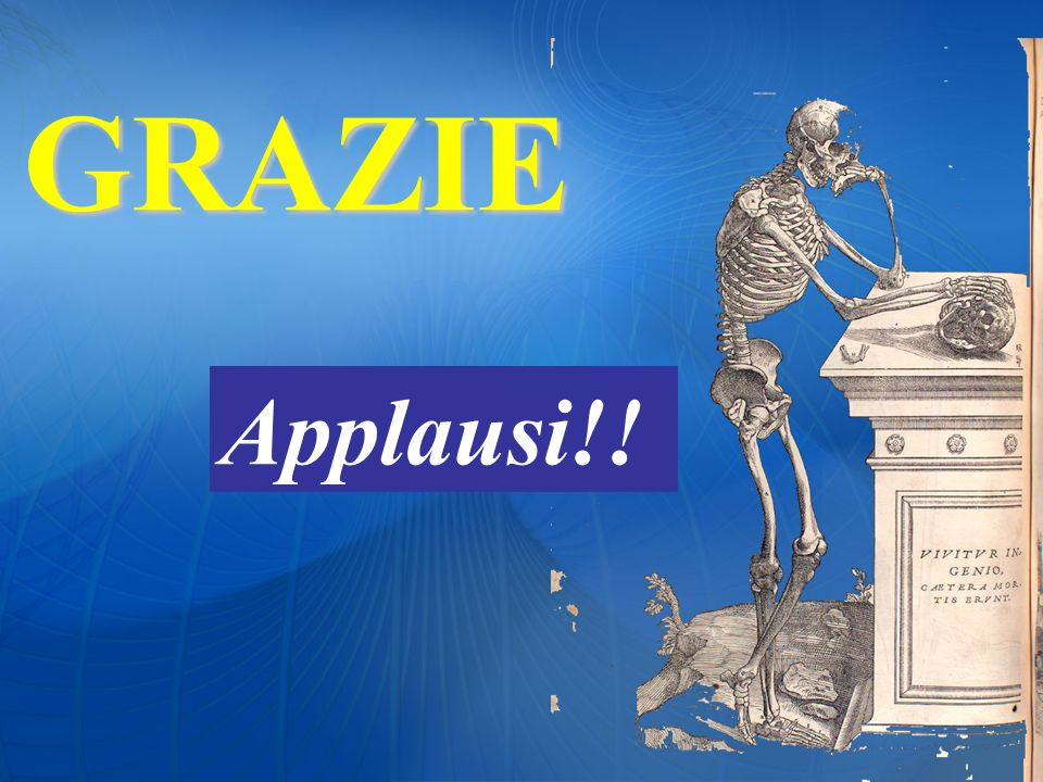 GRAZIE Applausi!!