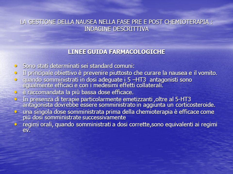 LINEE GUIDA FARMACOLOGICHE