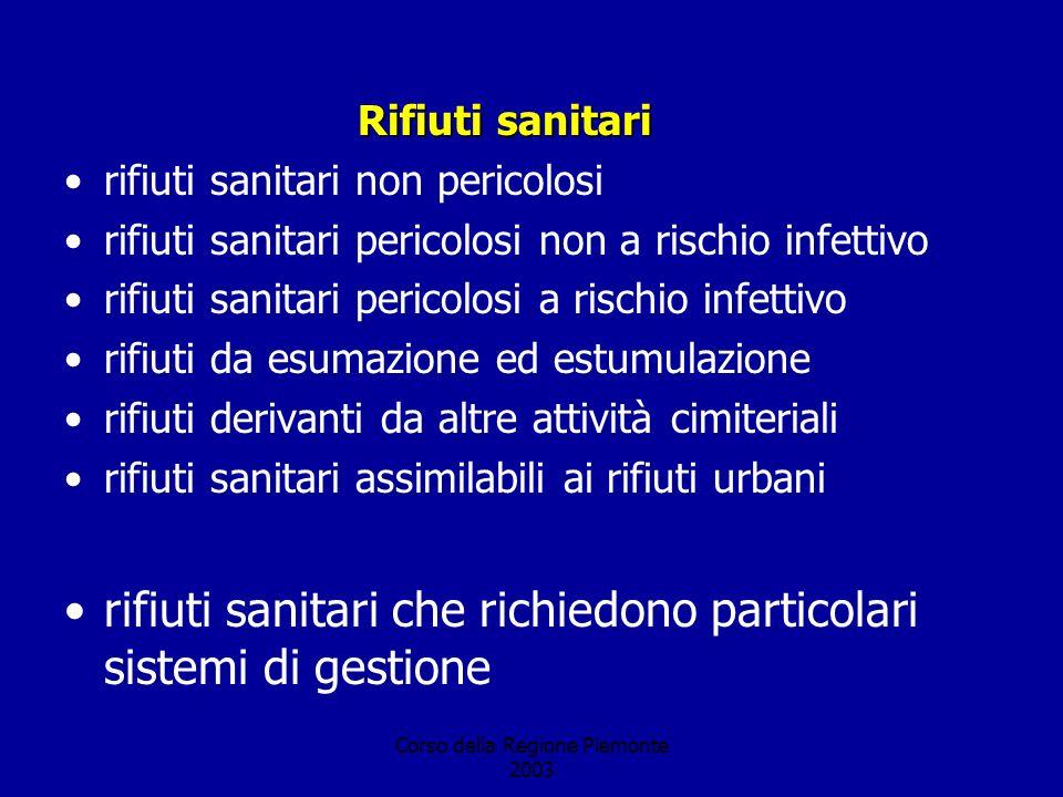 Corso della Regione Piemonte 2003