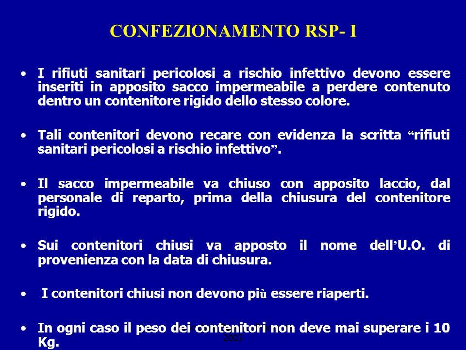 CONFEZIONAMENTO RSP- I