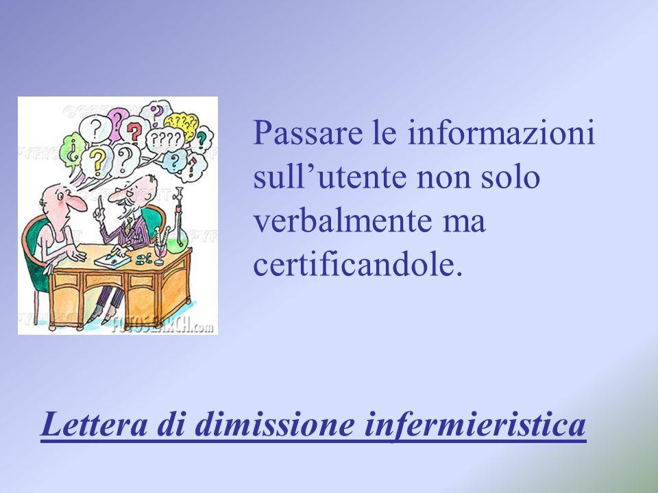 Passare le informazioni sull'utente non solo verbalmente ma certificandole.