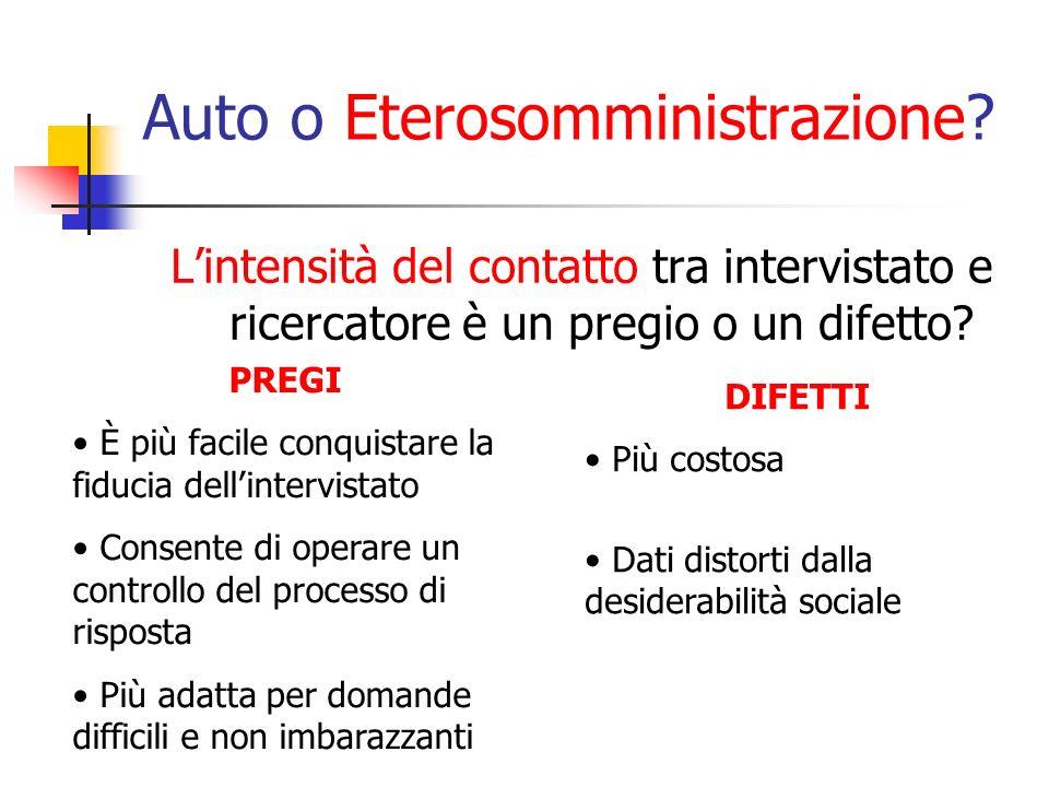 Auto o Eterosomministrazione