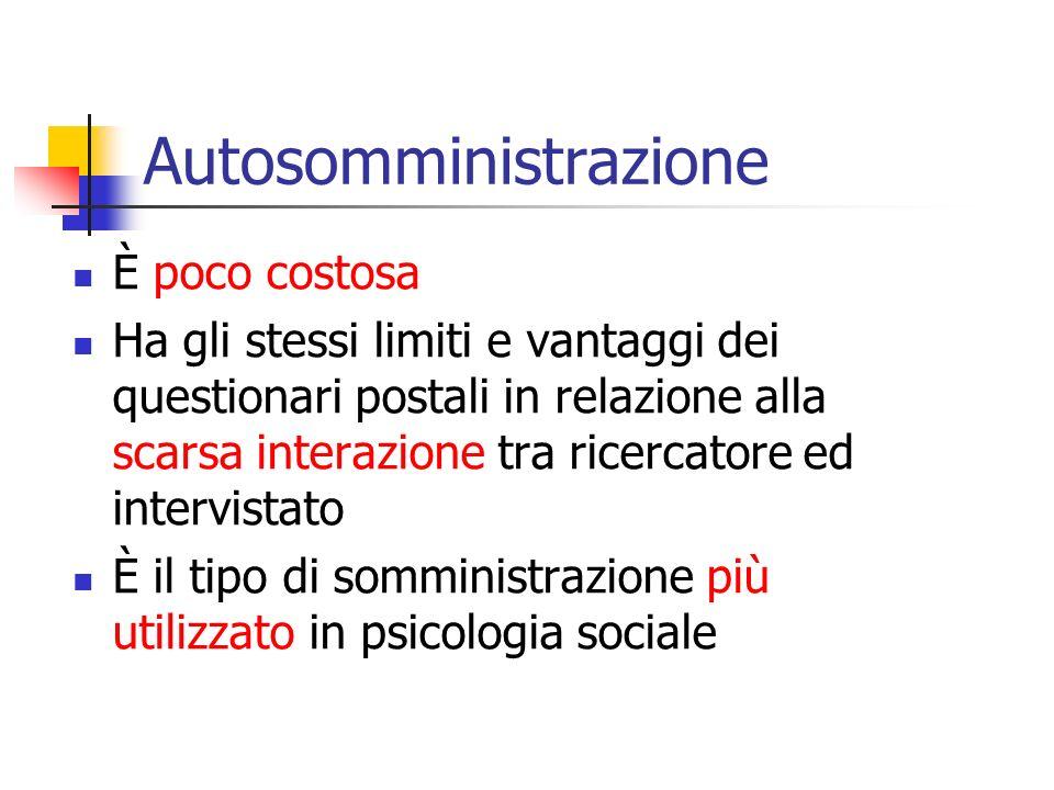 Autosomministrazione
