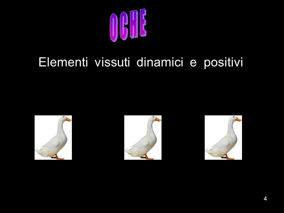 O C H E Elementi vissuti dinamici e positivi