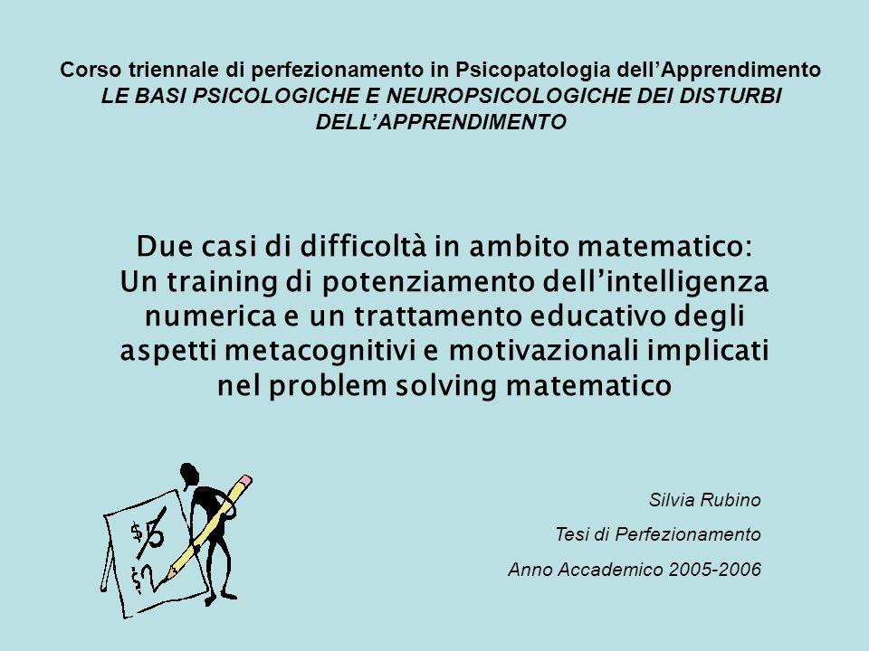 Due casi di difficoltà in ambito matematico: