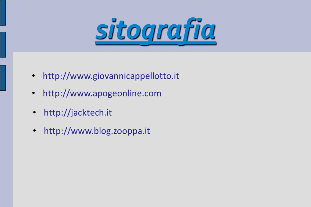 sitografia http://www.giovannicappellotto.it