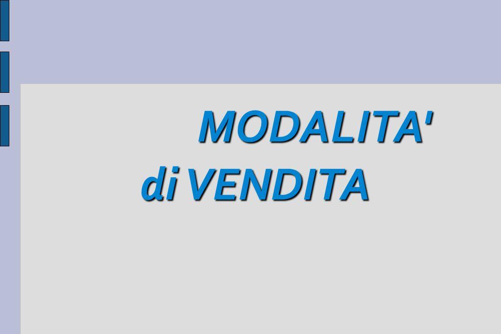 MODALITA di VENDITA