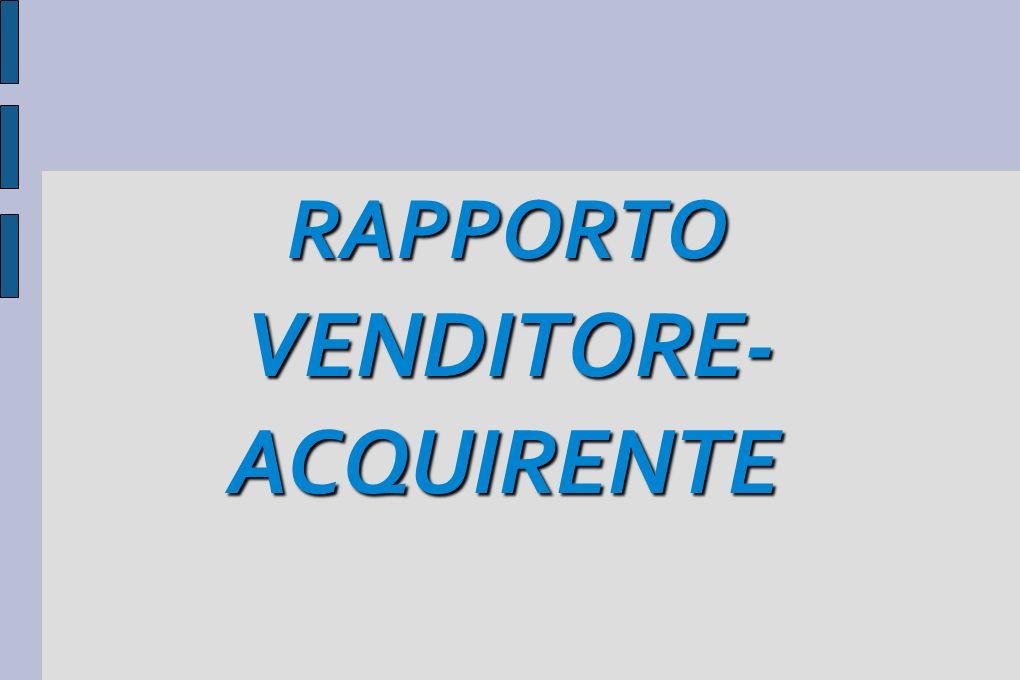 RAPPORTO VENDITORE- ACQUIRENTE